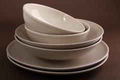 плита тарелки шара Стоковая Фотография