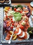 плита холода шведского стола Стоковое Фото