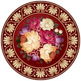 Плита цветка с картиной ремесленничества в векторе иллюстрация штока