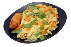 плита цыпленка изолированная карри Стоковая Фотография