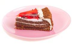 плита части шоколада торта Стоковые Фото