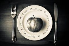 плита яблока стоковое изображение rf