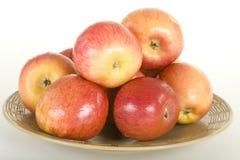 плита яблок свежая Стоковое Фото