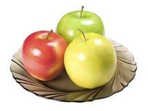 плита яблок Стоковое Фото