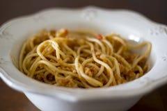 Плита bolognese спагетти стоковое фото rf