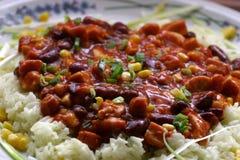 плита chili фасолей Стоковые Фото