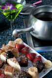 плита fondue десерта Стоковые Изображения