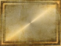 плита grunge золота Стоковое Фото