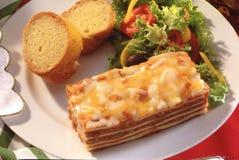 плита lasagna обеда Стоковая Фотография