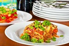 плита lasagne стоковые изображения