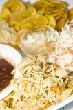 плита leon Никарагуаа дня цыпленка shredded Стоковые Фотографии RF