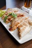 Плита Quesadilla типа ресторана Стоковое Фото