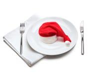 плита santa шлема claus Стоковые Фото