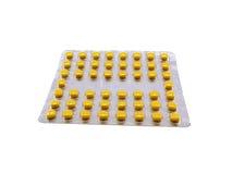 плита tablets желтый цвет Стоковые Изображения RF