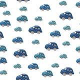 плитка голубых автомобилей предпосылки безшовная Стоковое Фото