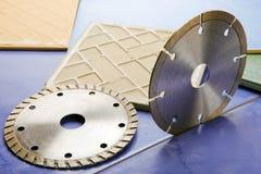 плитка дисков диаманта вырезывания Стоковая Фотография