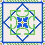 плитка керамического украшения геометрическая Стоковая Фотография