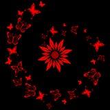 плитка лака цветка конструкции бабочки Стоковое Изображение