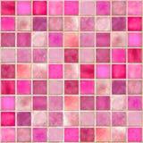 плитка мозаики розовая Стоковое фото RF