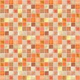 плитка померанца мозаики Стоковое Изображение