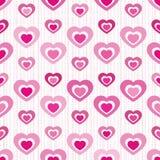 плитка сердца выреза безшовная Стоковое Изображение RF