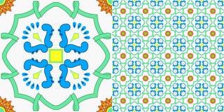 плитка типа украшения старая безшовная присицилийская Стоковая Фотография