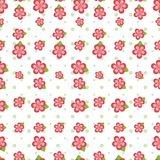 плитка цветка розовая безшовная Стоковая Фотография RF