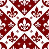 плитка 2 lys de fleur безшовная Стоковое Изображение RF
