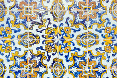 Плитки испанского типа год сбора винограда керамические Стоковые Изображения RF