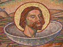 плитки мозаики christ jesus Стоковое Фото