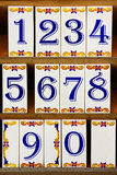 плитки номера Стоковые Фотографии RF