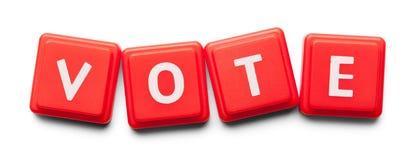 Плитки пластмассы голосования стоковое фото