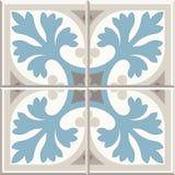 Плитки старого пола керамические Викторианский английский дизайн tiling пола, безшовная картина вектора иллюстрация вектора