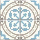 Плитки старого пола керамические Викторианский английский дизайн tiling пола, безшовная картина вектора иллюстрация штока