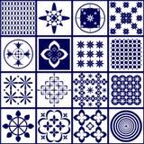 Плитки с абстрактными картинами Стоковое Изображение