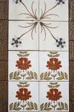 Плитки с флористическим Стоковая Фотография