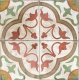 Плитки цветастого сбора винограда керамические. Стоковое Изображение RF