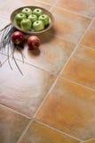 плитки яблок керамические излишек Стоковые Фотографии RF