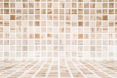 Плиточный пол и предпосылка стены/винтажная стена керамической плитки, предпосылка стены ванной комнаты дизайна дома Стоковые Изображения