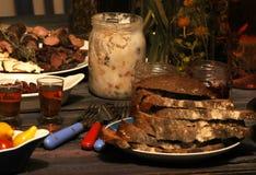 плиты еды обеда Стоковое Изображение
