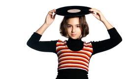 плиты мюзикл девушки Стоковое Изображение RF