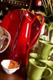 плиты обеда чашек шаров ассортимента Стоковые Фото