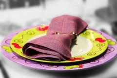 плиты обеда Стоковое Изображение RF