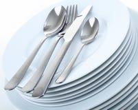 плиты cutlery Стоковая Фотография RF