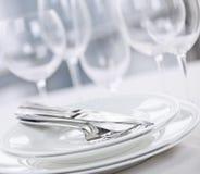плиты cutlery Стоковое Изображение RF
