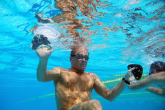 Пловец в бассейне Стоковые Фотографии RF