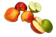 плодоовощи изолировали белизну Стоковая Фотография