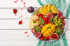 Плодоовощи и ягоды диска Стоковые Изображения RF