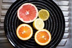 плодоовощи тарелки цитруса Стоковые Изображения RF