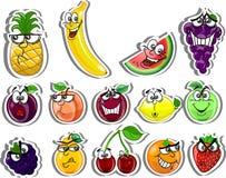 Плодоовощи шаржа, вектор иллюстрация штока
